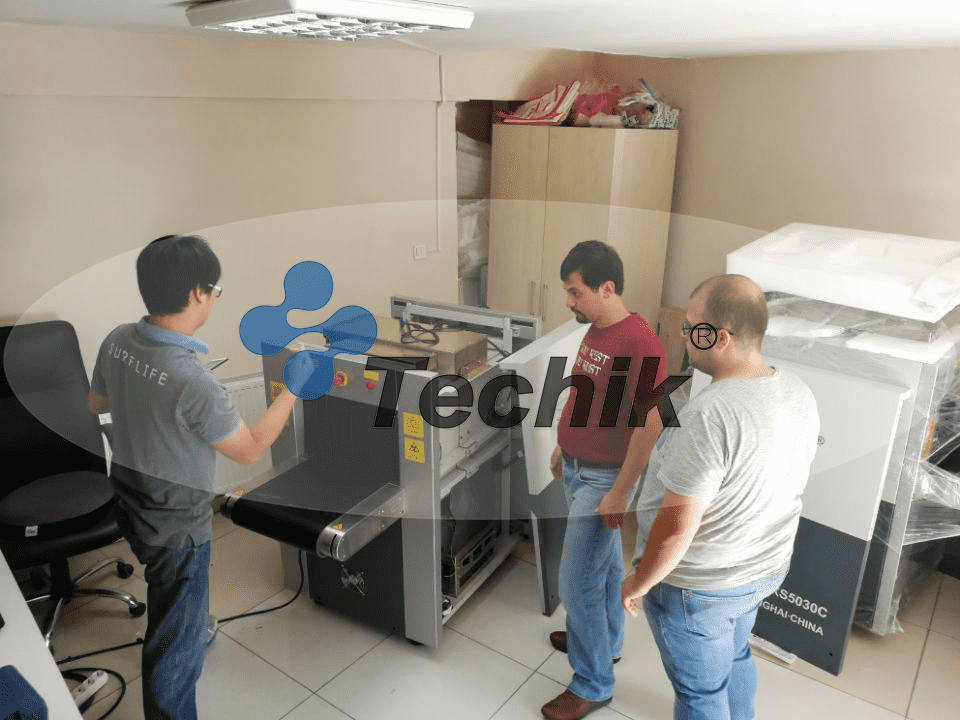 Techik Site Training For X-ray baggage scanner and metal detector