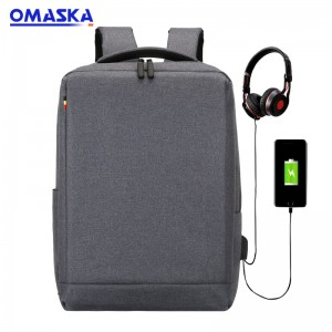 Canton Fair New style travel business laptop oxford school backpack with usb port