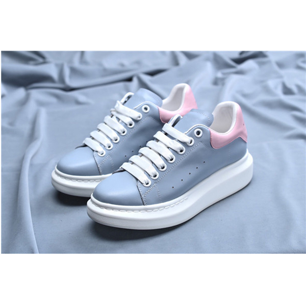 Women Blue Sheepskin Upper Sneakers Shoes With White Outsole Featured Image