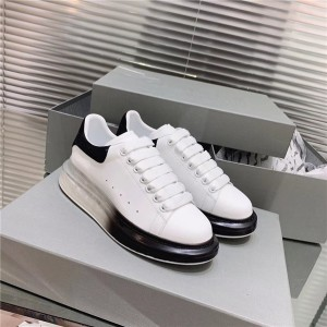 First Comfort Fashion black Transparent Sole Trainers Made of Top Layer Cowhide leather sneakers