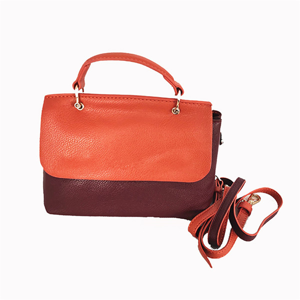 Factory direct sale fashion splicing PU handbags designer can be customized