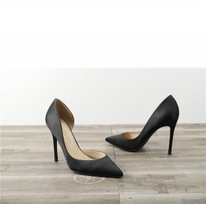Drop-ship In Store Black Satin Silk Sexy Pumps Shoes