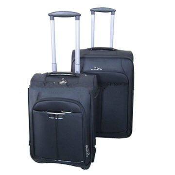 Trolley luggage case set, made of EVA+PVC