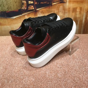 High Quality Sneakers For Couples Platform Shoes With Wine Red Back-Heel