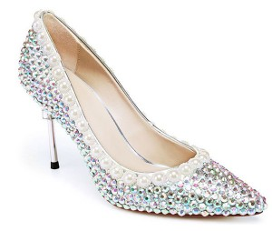 Colorful Rhinestone Ladies Bridal Banquet Shoes