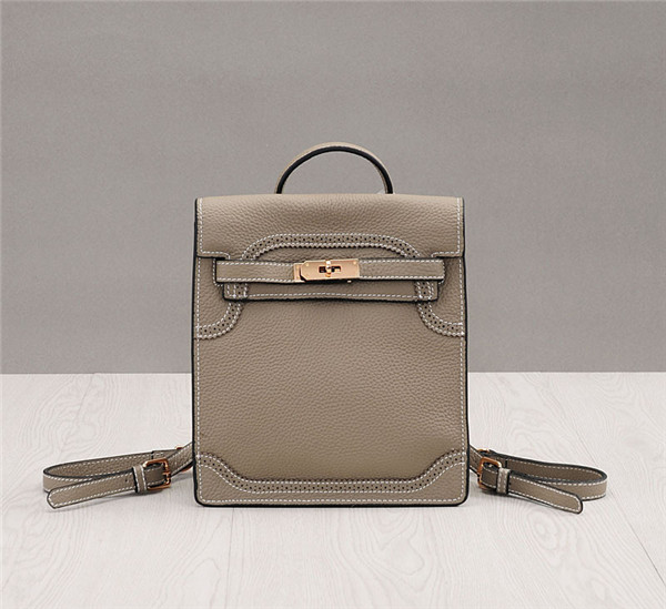 Light Grey Lychee Leather Sling Bags High Quality Designer Bags As Backpacks