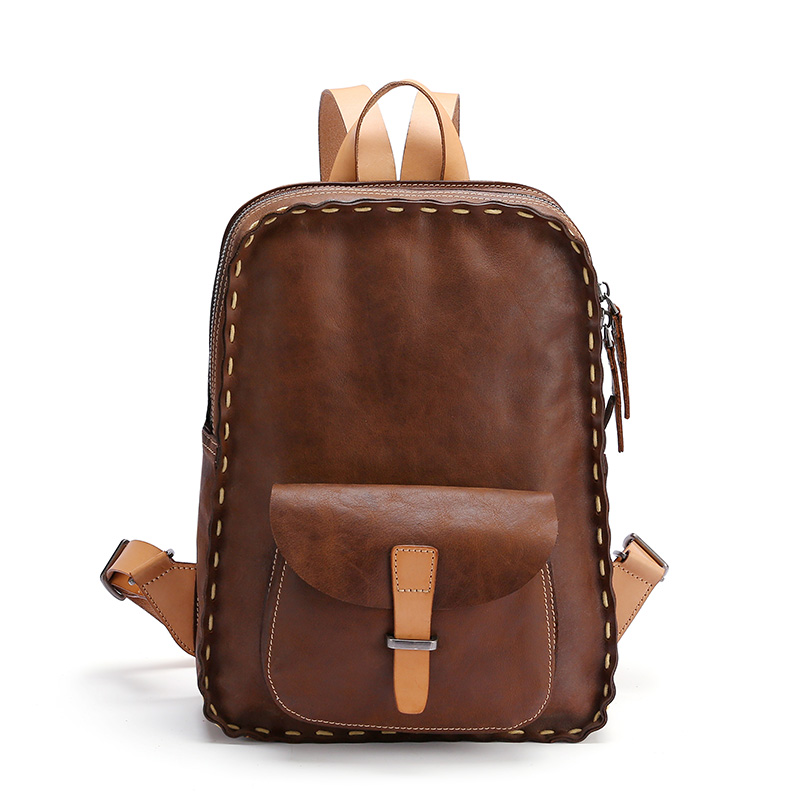 Handmade Stitching Leather Backpack