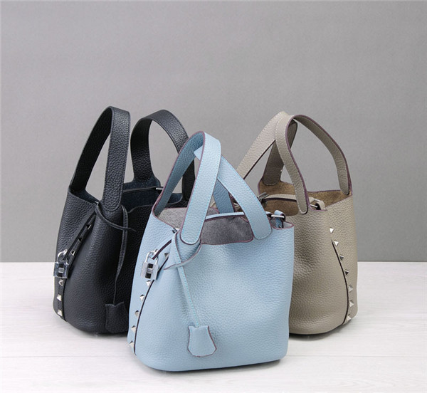 Good Quality Mini Sling Bags Natural Leather Basket Bags With Long Chain Shoulder Strap