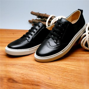 Black Cowhide Designer Sneakers Men