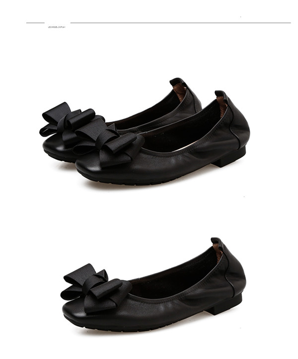 Nice Quality Fashion Lady Shoes OEM Black Leather Dress Shoes With Butterfly