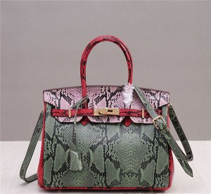 Snake Grain Cowhide Women Handbags Designer Tote Bag With Shoulder Strap