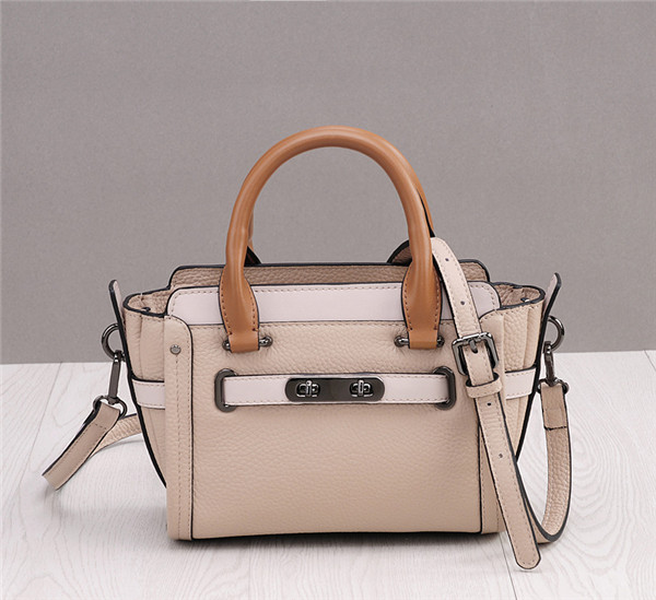 Western Style Creamwhite Cowskin Leather Designer Handbags Women Shoulder Bags Featured Image