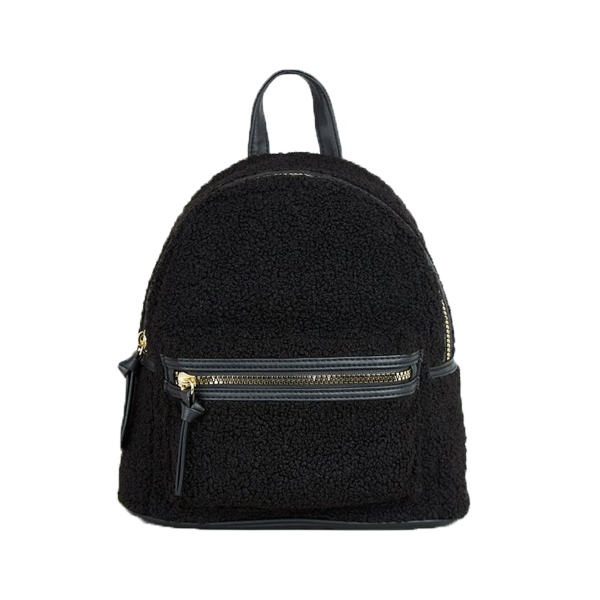 Black Teddy Mini Backpack