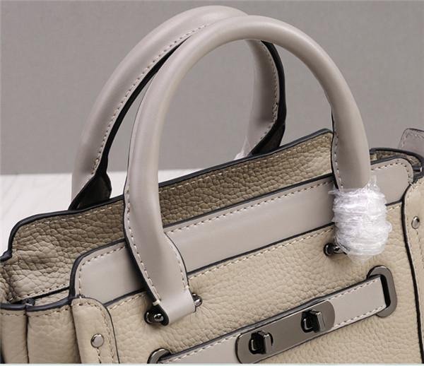 Western Style Creamwhite Cowskin Leather Designer Handbags Women Shoulder Bags