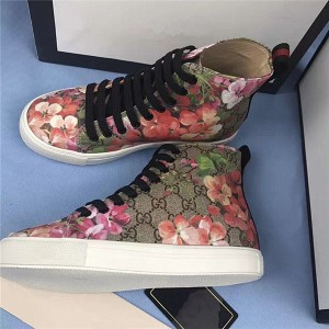 High Quality PVC Printed Fabric Shoes Men Sneakers Sport