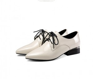 Korean Style Cow Hide Leather Formal Shoes Women
