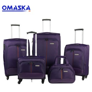 New 4pcs set soft suitcase manufacturing OEM custom logo wholesale nice quality set of suitcases