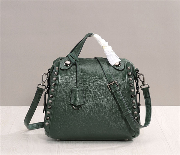 Women Designer Bags Green Oil Wax Cowhide Leather Satchel Bag