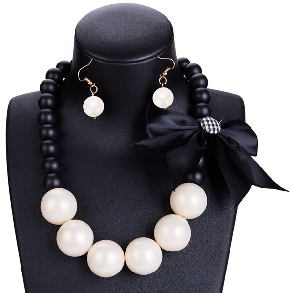 Collarbone Chain Necklace Set Women Fashion Bohemian Style Necklace And Earring Set