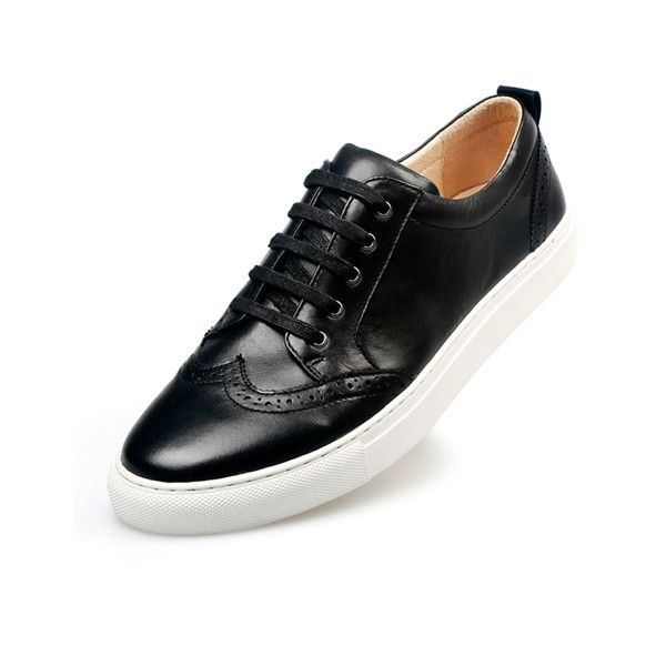 Black Cowhide Designer Sneakers Men Featured Image