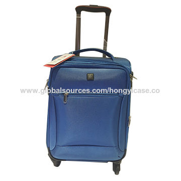 Expandable lightweight soft-side nylon 20 cabin luggage