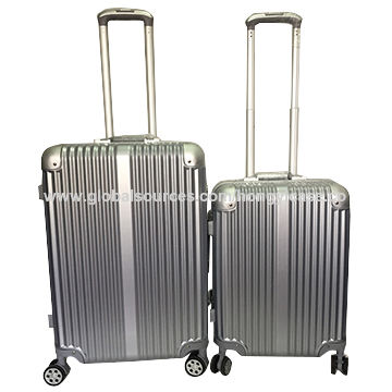 Fashion PC aluminium luggage set with trolley, safer, firmer, better quality