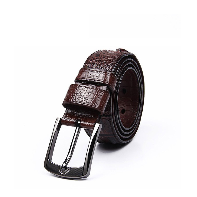Fashion Man Genuine Top Cow Leather Belts Good Quality Men Original Luxury genuine leather Buckle Belt