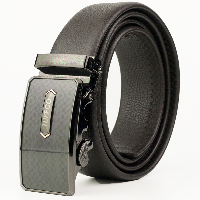 Men's Genuine Leather Belt, Top Grain Leather Belt, Alloy Automatic Buckle Leather Belt for Men