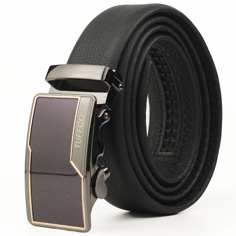 Designer Automatic Buckle Leather Belt, Genuine Leather Belts Waist Strap Belt 110cm