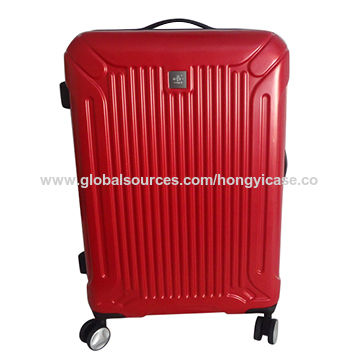 New design zipper ABS hard travel trolley luggage