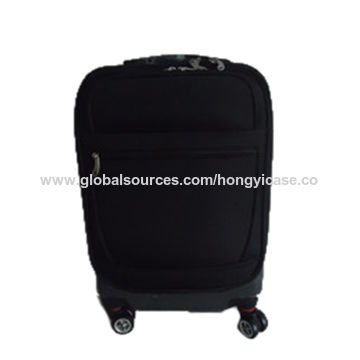 PC cabin trolley suitcase with 4 spinner wheels