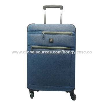 Polyester nylon expandable luggage with super silent wheels