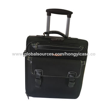 Soft side luggage laptop bag with trolley