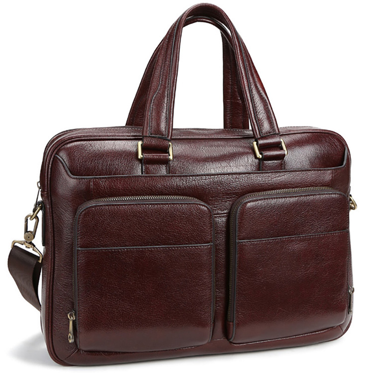 Genuine Leather Messenger Bag Leather Briefcase Men's Shoulder Bag