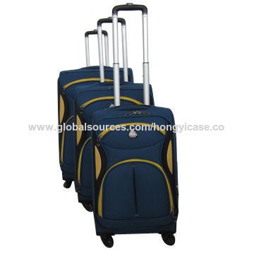Top selling expandable soft trolley case set