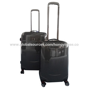 Waterproof hard ABS luggage trolley set