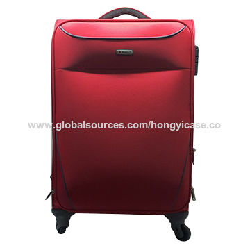 Waterproof polyester trolley luggage