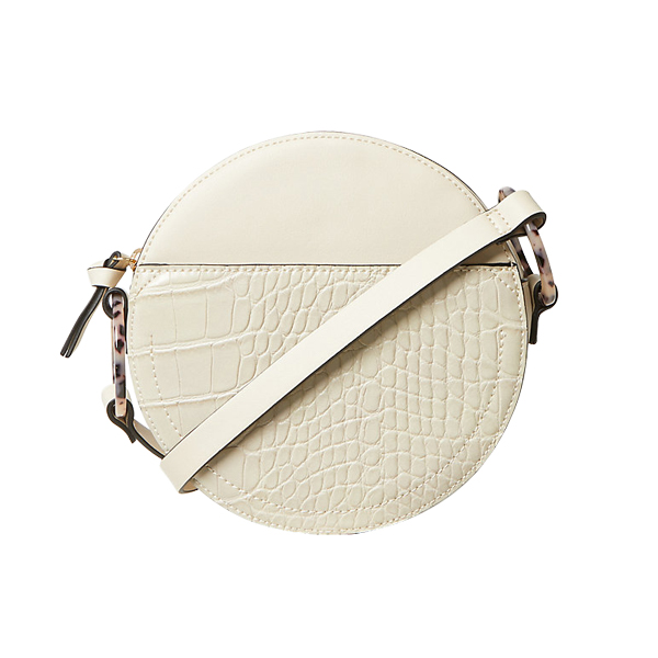 Faux Leather Croc Effect Crossbody Bag