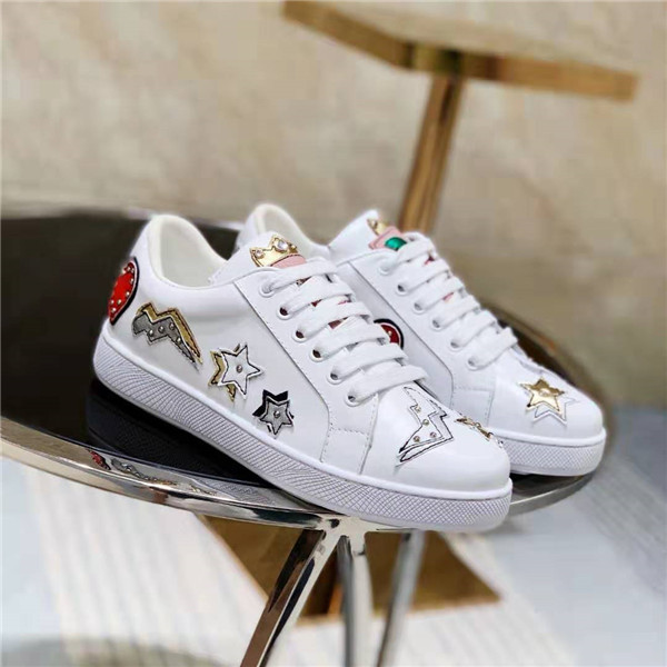 High Quality Famous Brand Designer Trainers White Cow Skin Sneakers Manufacturer