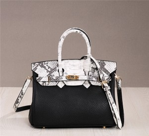 High Quality Designer Genuine Leather Handbags Women Brands Satchel Bag