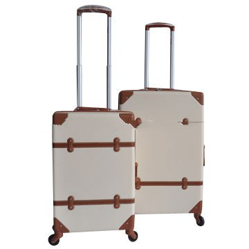 ABS Vintage Luggage with PU Decoration