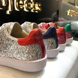 Pink Sequins Sneakers For Both Women And Men