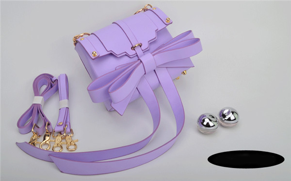 Multiple Wearing Methods Purple Bags Handbags Women Bowknot Hand Bag With Shoulder Strap