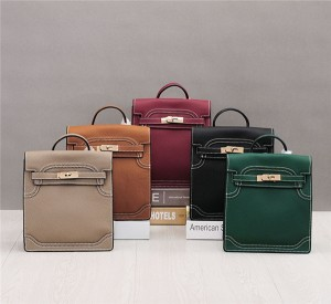 OEM Made Top Layer Cowhide Luxury Bags Designer Kelly Women Handbags Can Wear As Backpacks
