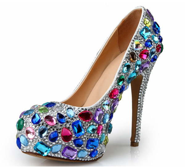 Handmade Colorful Sequin Pearl 14cm Super High Heel Sexy Pumps Women Featured Image
