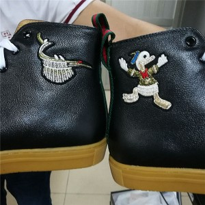 Ankle Lace Up Sheepskin Lining Embroidery Sneakers
