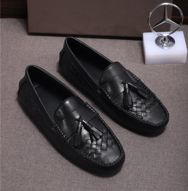 Custom Made Braid Leather Moccasins Suprior Quality Men Driving Shoes