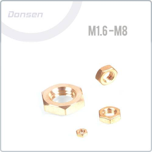 Brass Haxagon Thin Nut (Din439 ) Smaller sizes