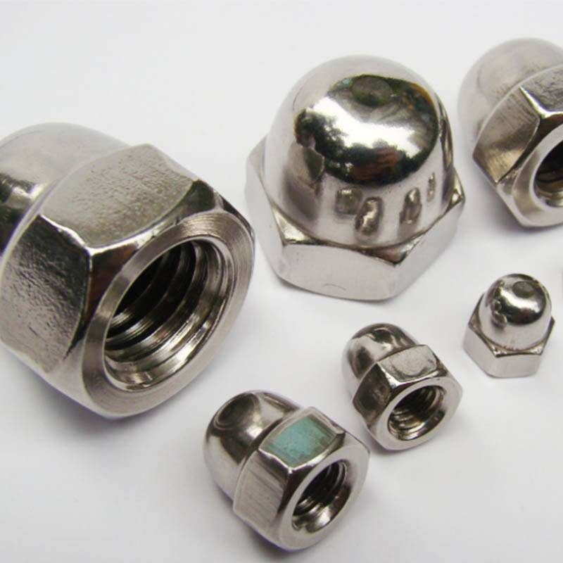 Stainless steel hex domed cap nut