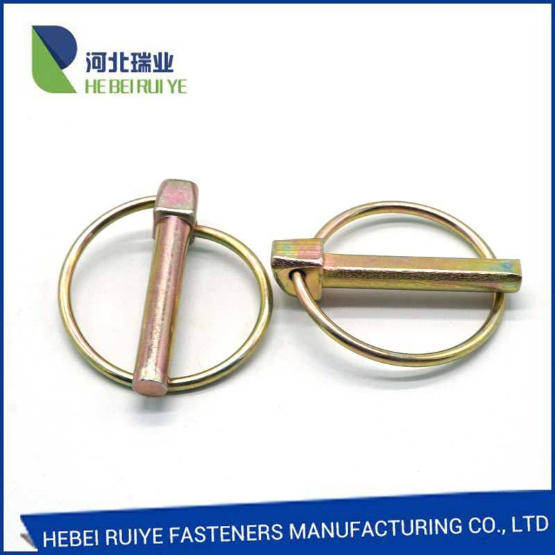 Yellow Zinc Plated Linch High Quality Safety Lock Pin Product manufacture in China Din11023
